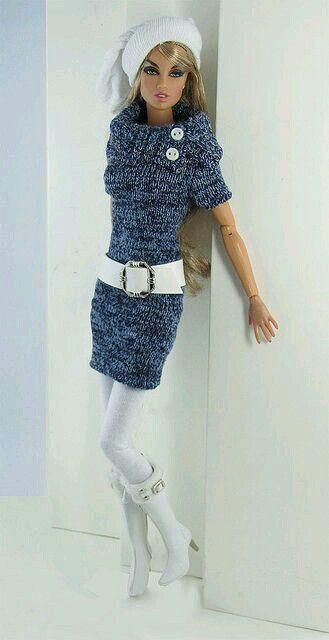 Vestido croche para barbie