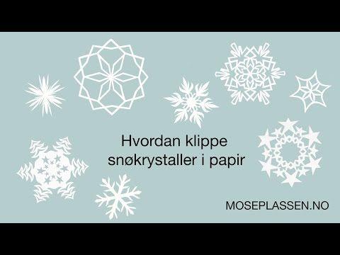 ▶ Snøkrystaller og stjerner i papir - YouTube