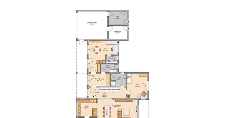 Grundriss Kern-Haus Bauhaus Ixeo Erdgeschoss