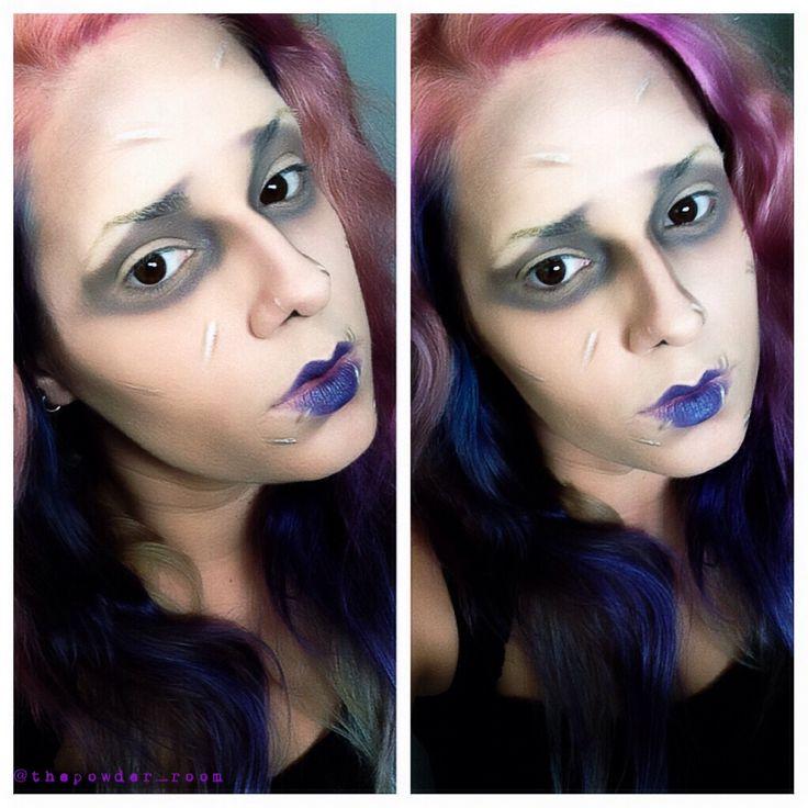 Edward mit den Scherenhänden Halloween makeup
