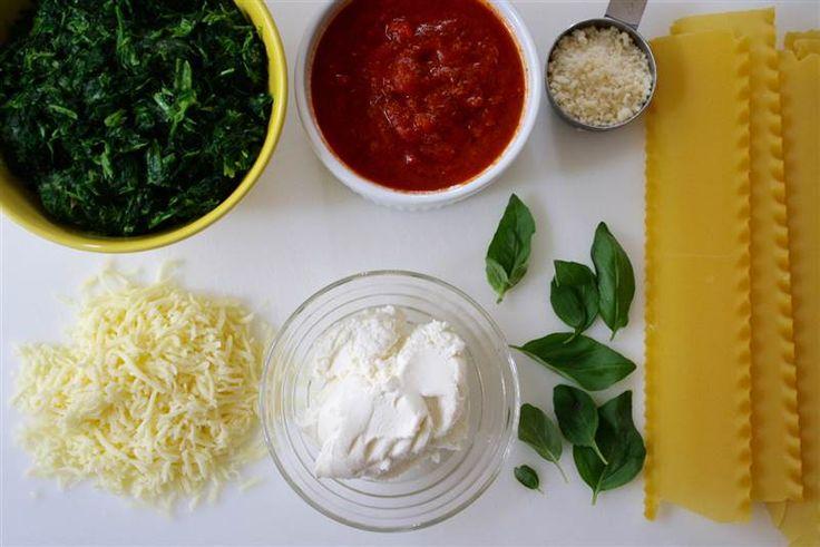 Slow-Cooker Spinach Lasagna ingredients