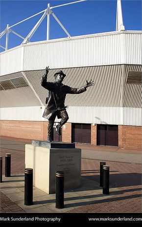 Bob Stokoe Statue Stadium of Light Sunderland England by Mark Sunderland, via Flickr