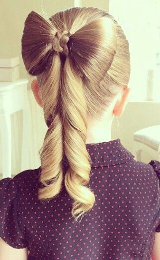 Bow ponytail hairstyle for girls @fashionsdream                                                                                                                                                                                 More