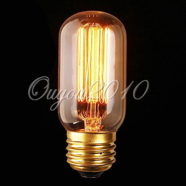 40-60W-Suspension-Tube-Vintage-lampadario-Edison-Carbon-Lampadina ...