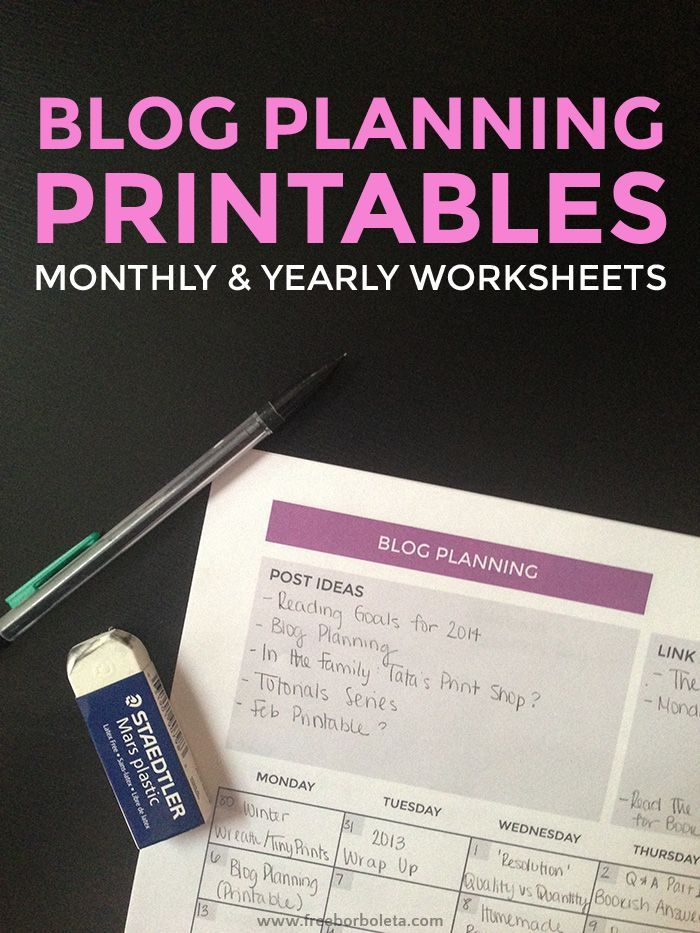Blog Planning (with printables!) // what has worked for me #blog #planner #plan
