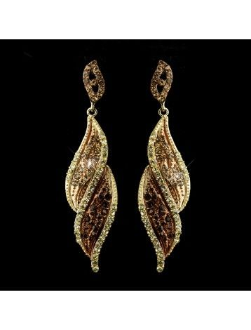 The 24 Best Images About Wedding Earrings On Pinterest Pearls Chocolate Brown Swarovski Crystal