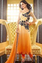 Yellow Faux Georgette Salwar kameez