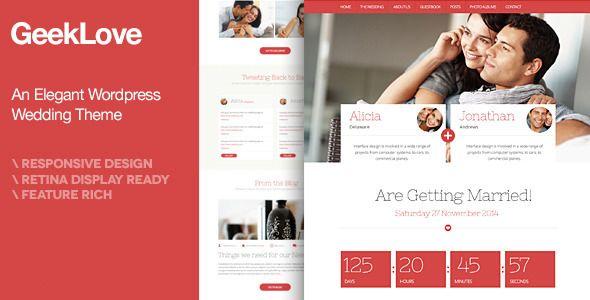 WordPress - GeekLove - A Responsive Wordpress Wedding Theme | ThemeForest #wordpress #wordpressthemes #wordpresstips