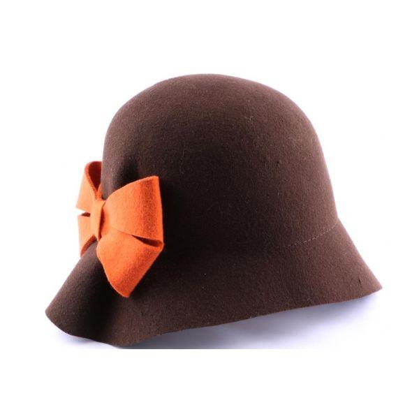 Chapeau Feutre Loli Marron et orange #mode #bonplan #idéecadeaux #femme