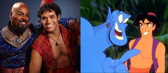 Aladdin film vs. stage