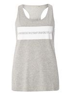 Womens **Only Play Light Grey Daya Loose Tank Top- Grey