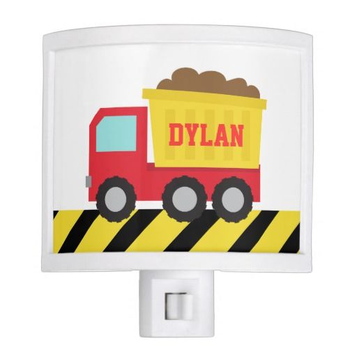 Cute Dump Truck, Construction Vehicle, Boys Room Night Light