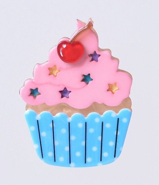 Doesn't it look delicious? Vintage inspired and endlessly endearing, this cheeky curio is fresh from Erstwilder in charming quality resin construction. A scrumptious cupcake pin that's lovingly hand assembled, hand painted and released in limited edition.