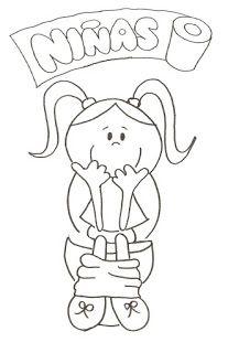 Carteles Banos Para Colorear Carteles De Bano Banarse Dibujo Maestra Dibujo