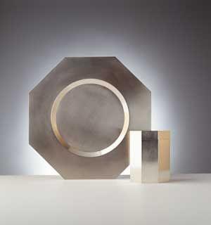 Oktagonalt fat och burk i silver - Knutssons Antik- & Konsthandel
