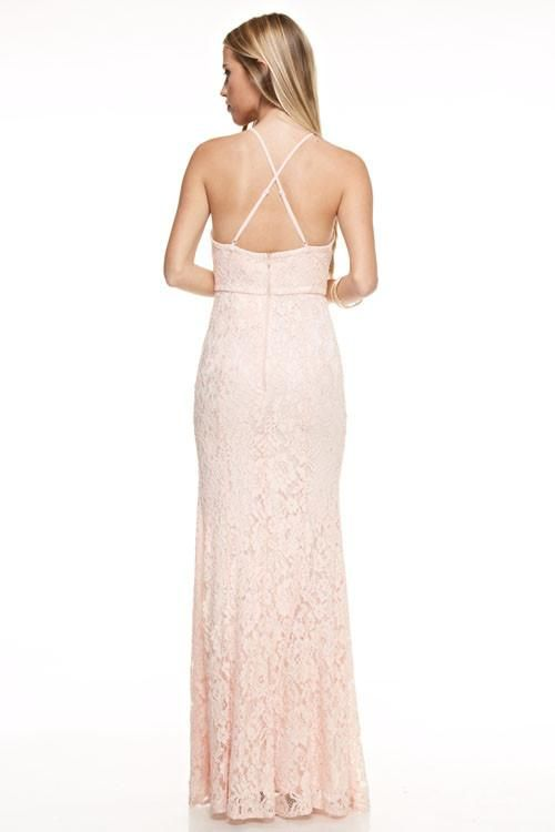 Affordable Lavender Grey Blush Long Bridesmaid dress Evening gown