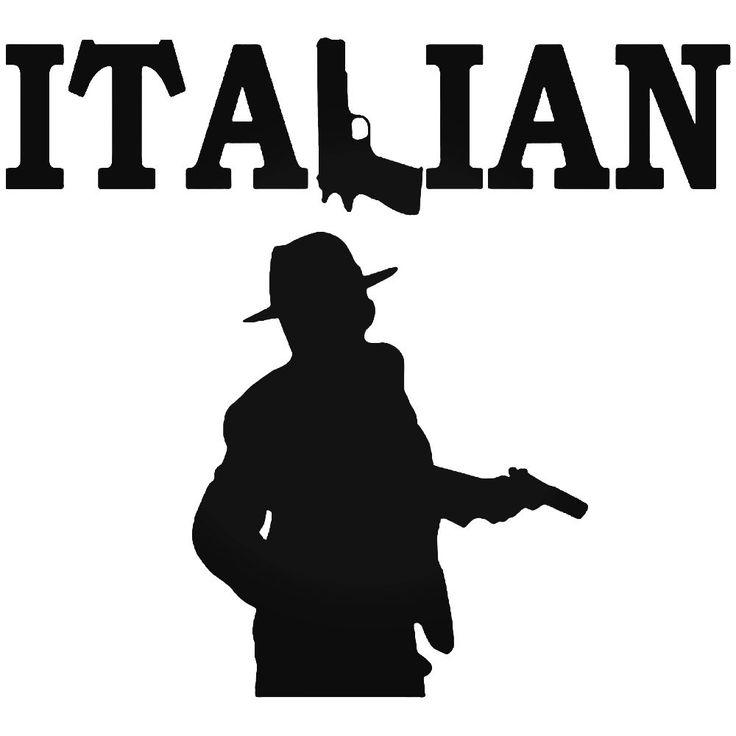 Italian Gangster Vinyl Decal Sticker  BallzBeatz . com