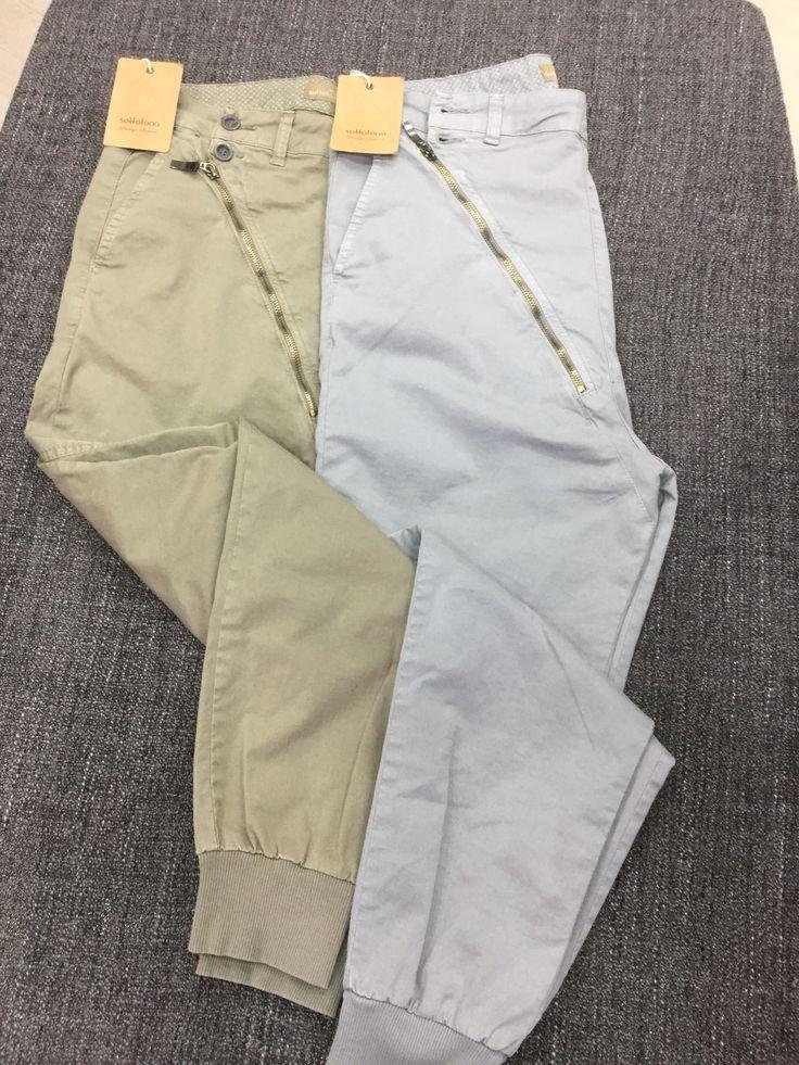 Pantaloni cerniera laterale