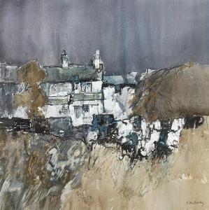 John Blockley Watercolour Artist | john blockley cottage tan y grisiau north wales original estimate ...