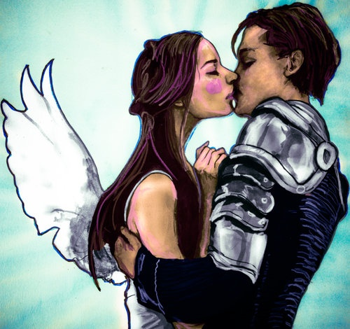 "Leonardo Dicaprio and Clare Danes from William Shakespeare's ""Romeo and Juliet"" by Danny Roberts"