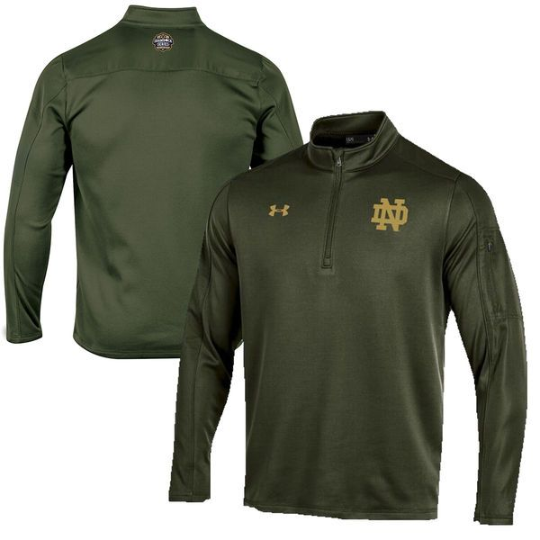 Notre Dame Fighting Irish Under Armour 2016 Shamrock Series Armour Fleece Quarter-Zip Jacket - Green
