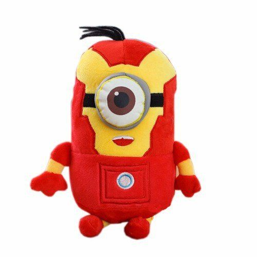 Minions Cosplay The Avengers Super Hero Spiderman, Superman, Batman, Captain America, Ironman & Thor Plush Dolls