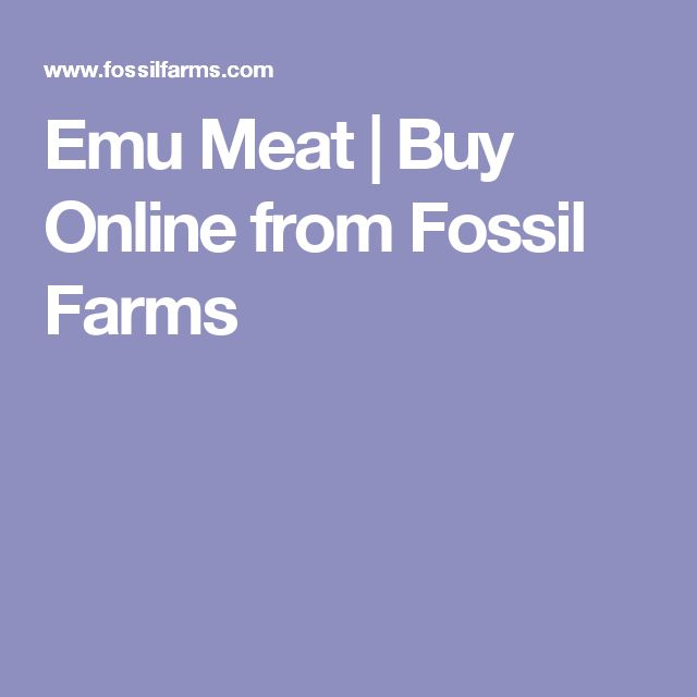 Emu Meat | Buy Online from Fossil Farms