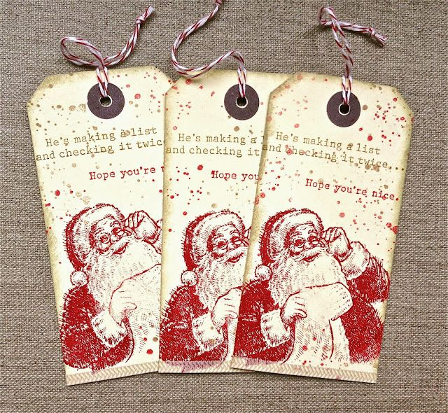 Special tags made from Santa - could make a whole bunch at one time so it's the same every year for the boys - I would just need a good place to hide them!