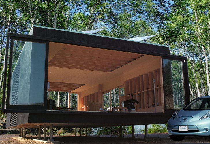 High-Tech Off-Grid Mirai Nihon Home Coexists With Nature in Japan