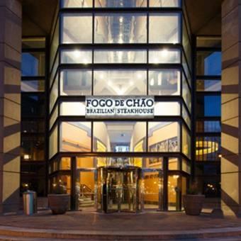 Fogo de Chao  (fo-go dèe shoun),  authentic Brazilian steakhouse     200 Dartmouth St., Boston, MA 02116     617.585.6300