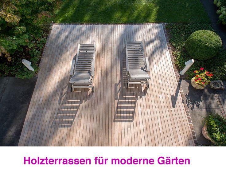 Holzterrassen Verbinden Moderne Architektur Und Garten