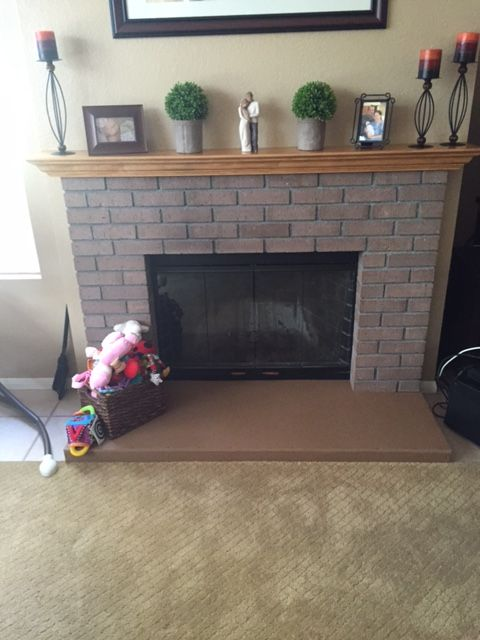 Fireplace hearth and Child proof