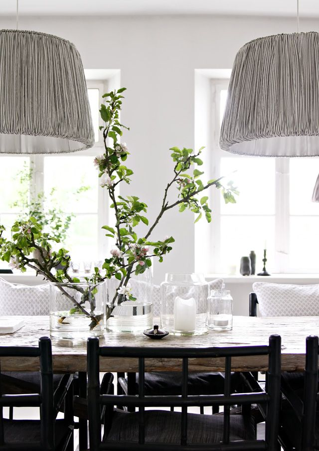 Oh I'm obsessed with the lamp shades over the dining table idea! These are gorgeous!