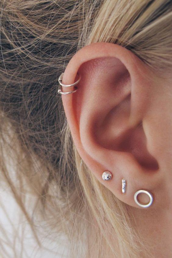 Neueste Ohrpiercings für Frauen schöne und niedliche Ideen, Piercings Ohr …