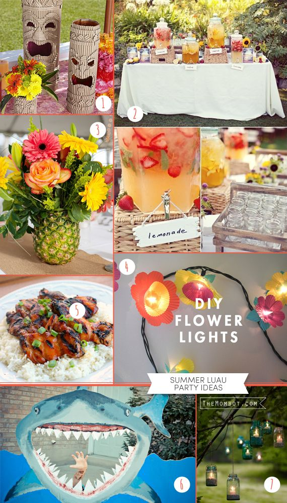 Summer luau party ideas (including DIYs and printable decor)   TheMombot.com