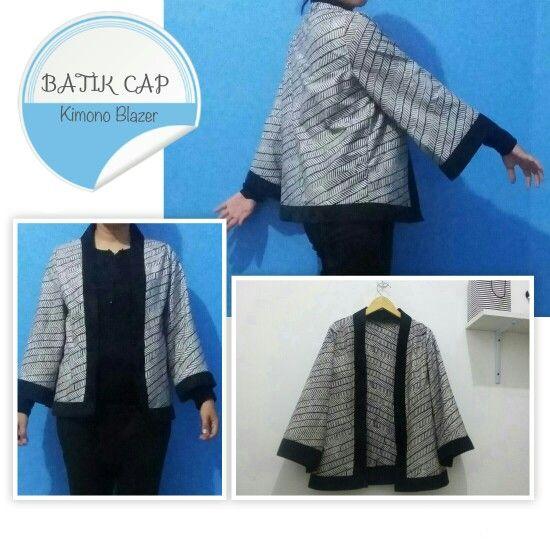Blazer kimono batik cap 100rb, bahan katun prima,minat sms/wa/call 086647102751