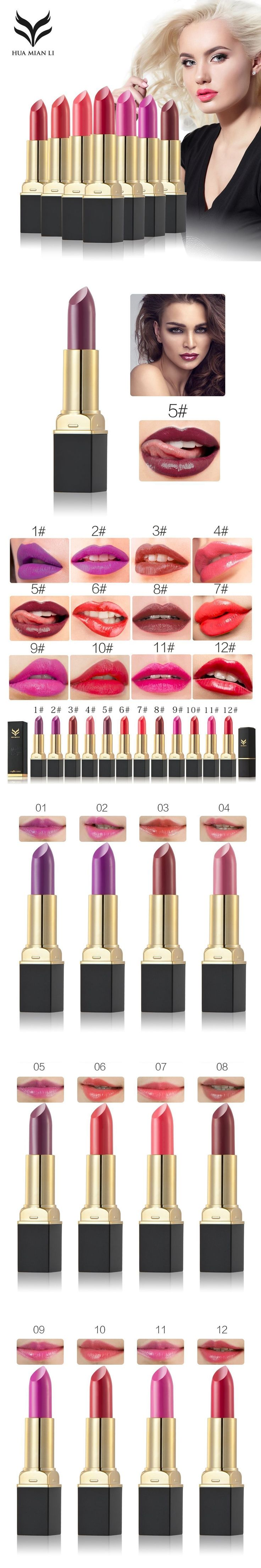 12 Colors Matte Liquid Red Lipstick Flower Color Vampire Moisturizing Baby Lips Beauty Long Lasting Brand Makeup Cosmetics