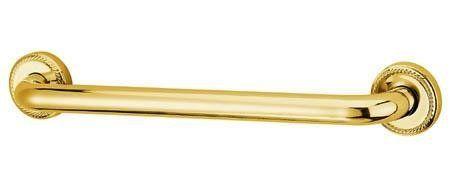 """Made to Match Laurel Designer Grab Bar Finish: Polished Brass, Size: 16"""" by Elements of Design. $79.36. EDR814162 Finish: Polished Brass, Size: 16"""" Features: -Made to Match Laurel Grab Bar.-Premier finsih.-12''.-16''.-18''.-24''.-30''.-32''.-36''. Construction: -Solid brass construction. Color/Finish: -Polished chrome finish.-Polished brass finish.-Oil rubbed bronze finish.-Satin nickel finish. Dimensions: -12'' Length.. Save 32%!"""