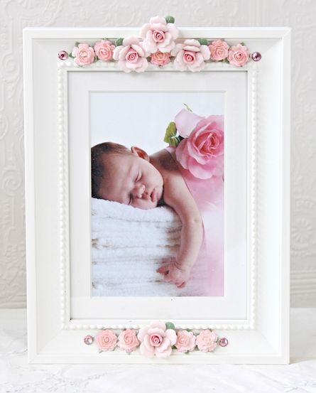 Pink Porcelain Roses Picture Frame - so pretty.