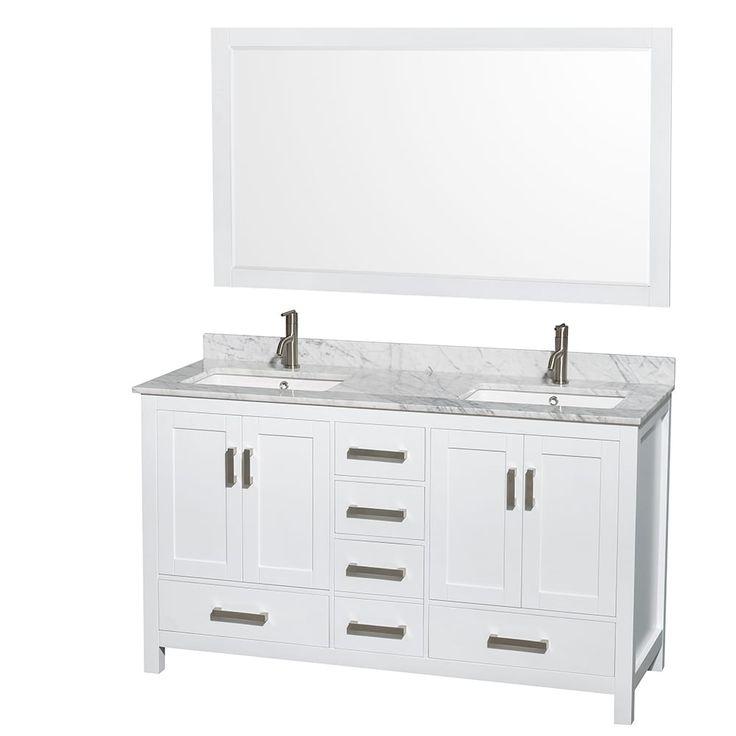 Best Inch Vanity Ideas On Pinterest Master Bath Master - 58 inch bathroom vanity for bathroom decor ideas
