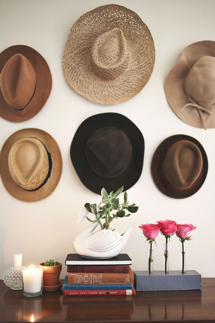 Best 25 hanging hats ideas on pinterest hang hats hat for Hat hanging ideas
