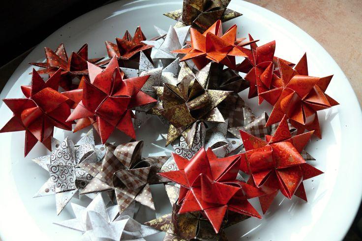 Vánoční hvězdičky 8 ks velikost hvězdičky 7 cm