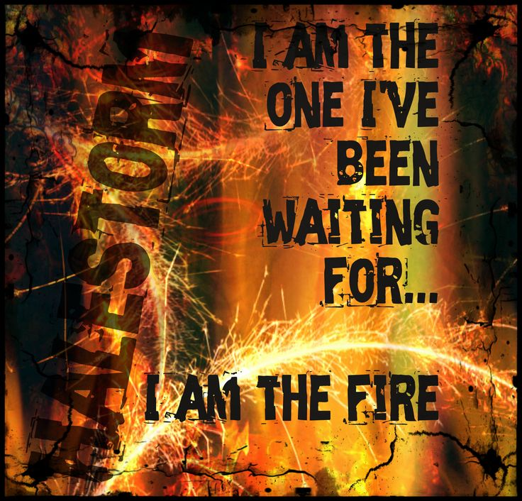 """I Am The Fire"" -Halestorm"