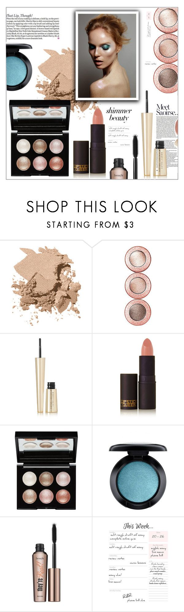 """""""Untitled #3370"""" by frenchfriesblackmg ❤ liked on Polyvore featuring beauty, Bobbi Brown Cosmetics, DuÅ¡an, Estée Lauder, Lipstick Queen, Witchery, MAC Cosmetics and Benefit"""