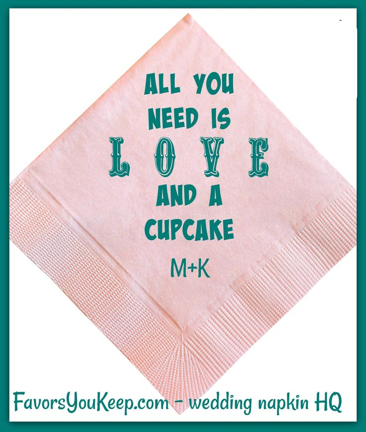 Cake or cupcake? Just let us know. Fun napkins to tickle the fancy of your guests. Breaks the ice and gets people talking.