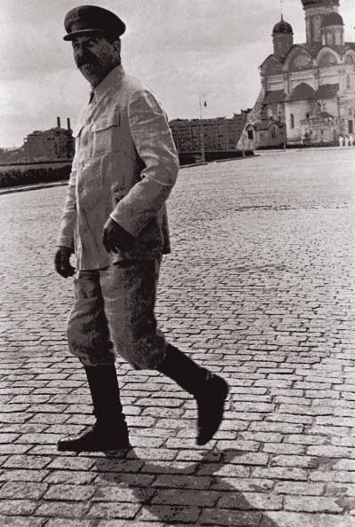 Stalin Strolling Down The Red Square