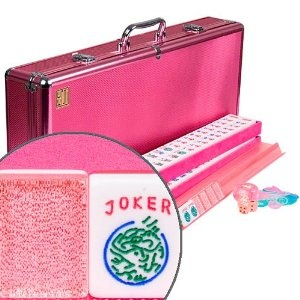 Pink Sparkles American Mahjong Set  I bought this set recently and love it! It is much prettier in person and not gaudy at all as some may think.