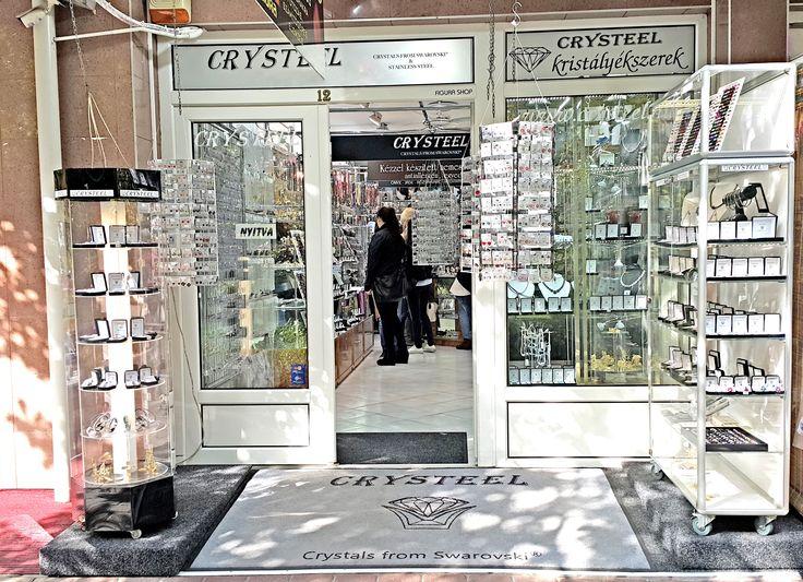 Hungary /Hévíz:  Crysteel Jewelry Shop Kölcsei út 4