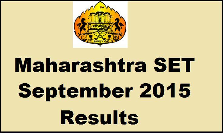 Maharashtra SET Exam Result 2015 Declared MH State Eligibility Test September Results Merit List setexam.unipune.ac.in