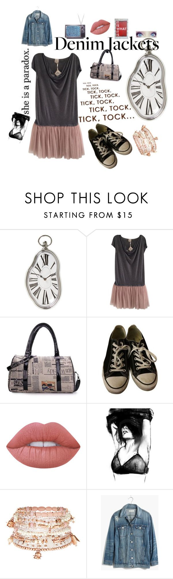 """""""Untitled #109"""" by of-the-eleventh-day on Polyvore featuring Salvador Dali, Haute Hippie, Converse, Lime Crime, Accessorize and Madewell"""